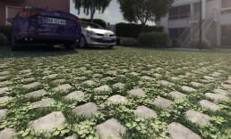 Perspectives 3D de détail technique du parking