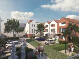 Perspective 3D de promotion immobilière classique