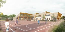 Perspective 3D de concours d'école primaire