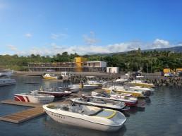 Perspective 3D du port et de ses bâtiments