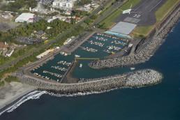 Perspective 3D aérienne en axonométrie du projet du port