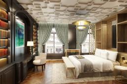Appartement 3D luxe - chambre à coucher photoréaliste