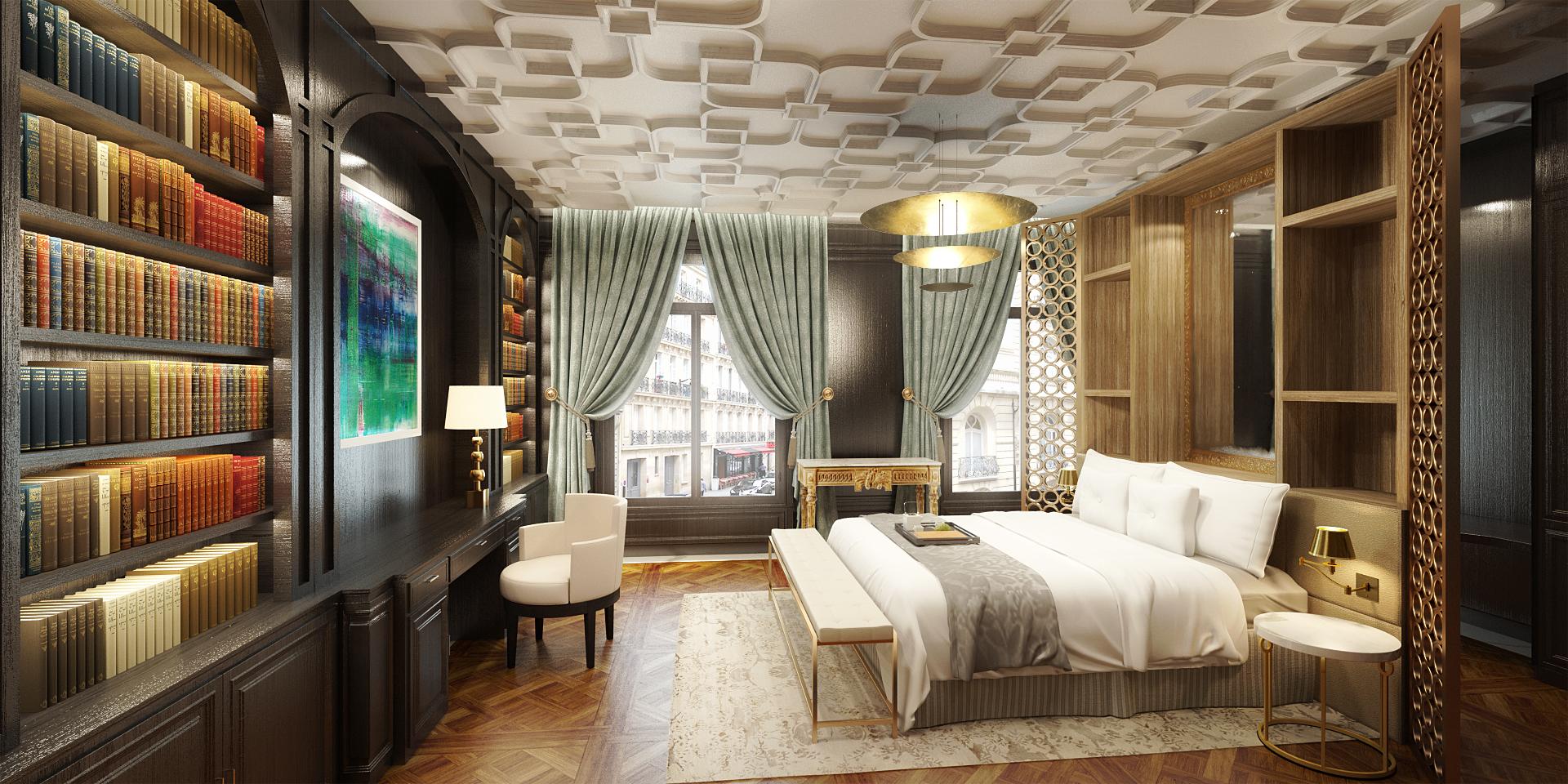 appartement haussmannien paris miguel diaz infographiste 3d. Black Bedroom Furniture Sets. Home Design Ideas