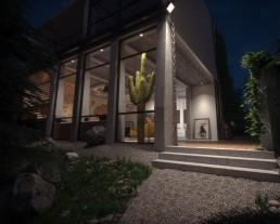 Visuel extérieur de la villa de luxe