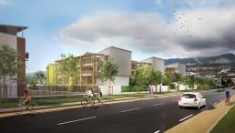 Visualisation 3D d'immeubles de logements sociaux pour un promoteur