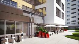 Visualisation 3D réaliste de la terrasse du RIE