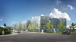 Vue 3D de promotion de bureaux à Strasbourg
