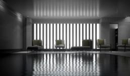 Visuel 3D d'un piscine luxe et son spa