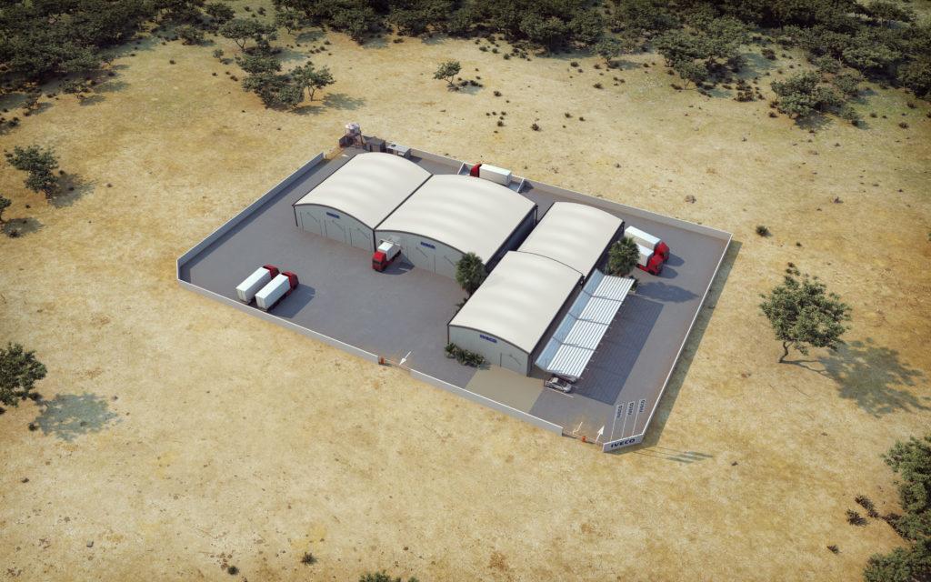 Axonométries 3D et plans de vente - hangars