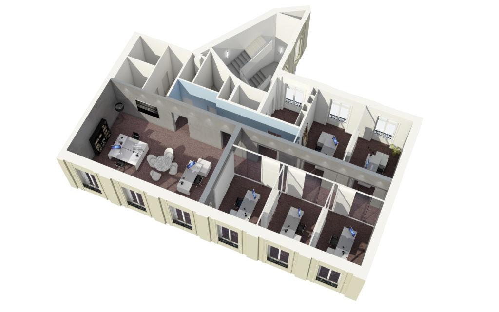 Axonométries 3D et plans de vente - space planning