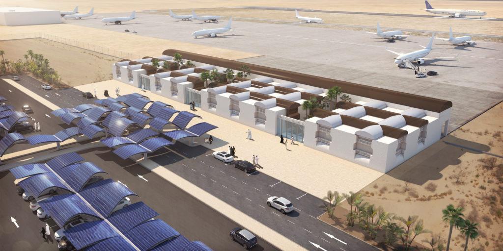 Perspective 3D - Aéroport vue aérienne