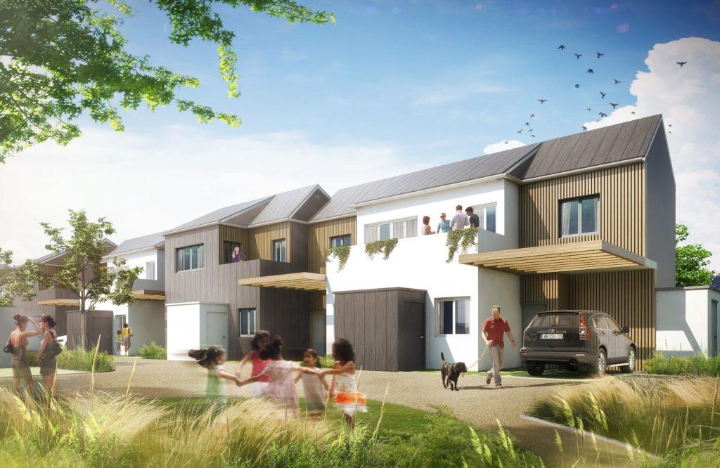 Perspective 3D de logements promoteur