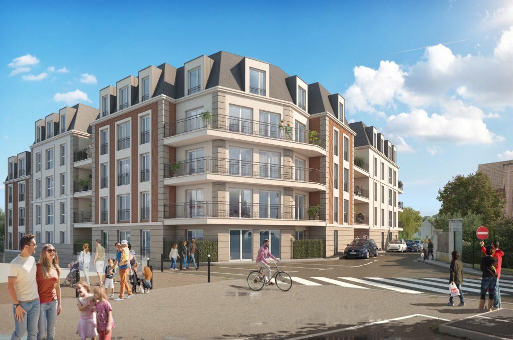 Perspective 3D pomotion de logements collectifs